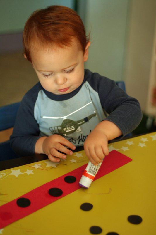 Ladybug hat craft for little ones