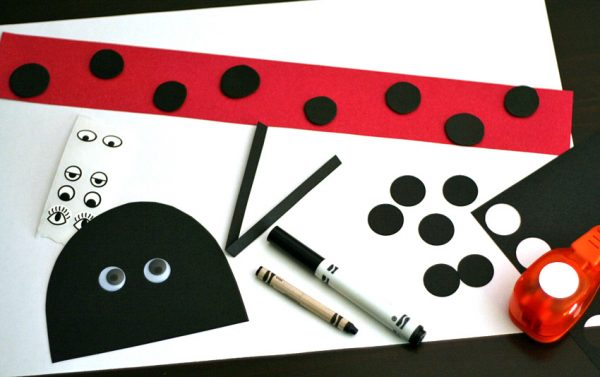 Ladybug hat craft supplies