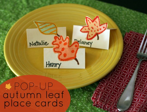 Pop-up Autumn Leaf Place Cards