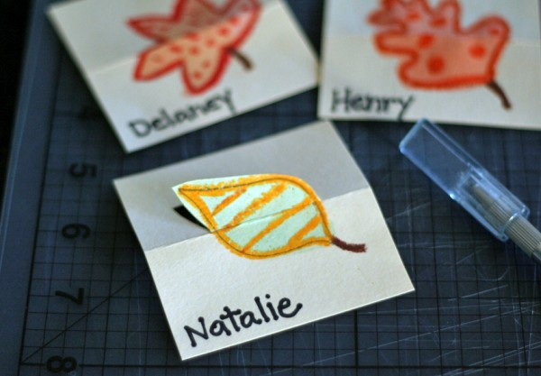 Making pop-up place cards
