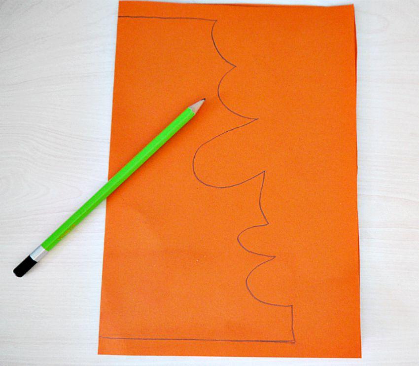 how to make paper banana leaf
