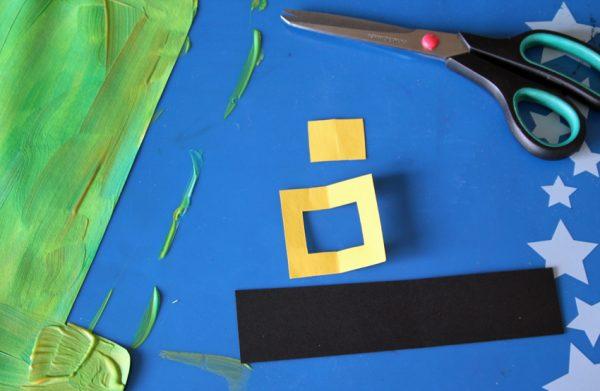 Leprechaun hat art project