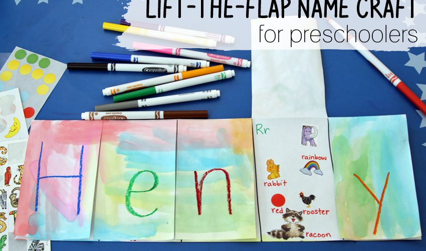 Lift-the-flap name project for preschoolers