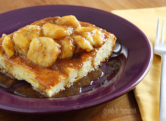 Bananas Fosters Topped Overnight French Toast