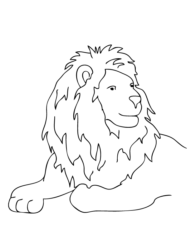March Lion Coloring Page