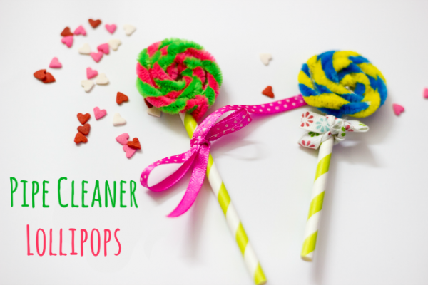 Pipe cleaner lollipops... great for Candy Land or Willy Wonka themes.