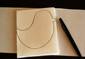 Bird shape for paper garland