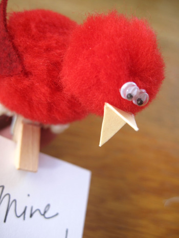 Love Bird Pom Pom Craft