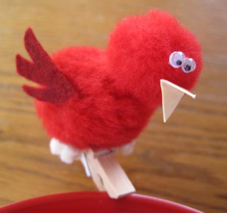 Crafty Pom Pom Birdie