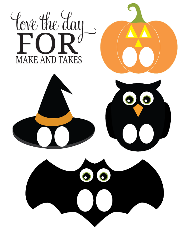 Printable halloween finger puppets make and takes - Printable halloween decorations ...