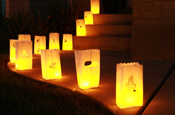 Paper Bag Halloween Craft Luminaries
