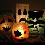 Luminary Halloween Jars