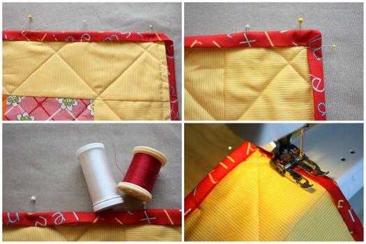 machine sewing quilt binding