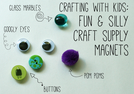 Fun & silly magnet craft for kids