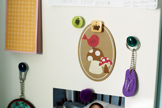 Making magnets with craft supplies