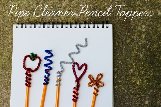make and takes  pencil toppers made from pipe cleaners