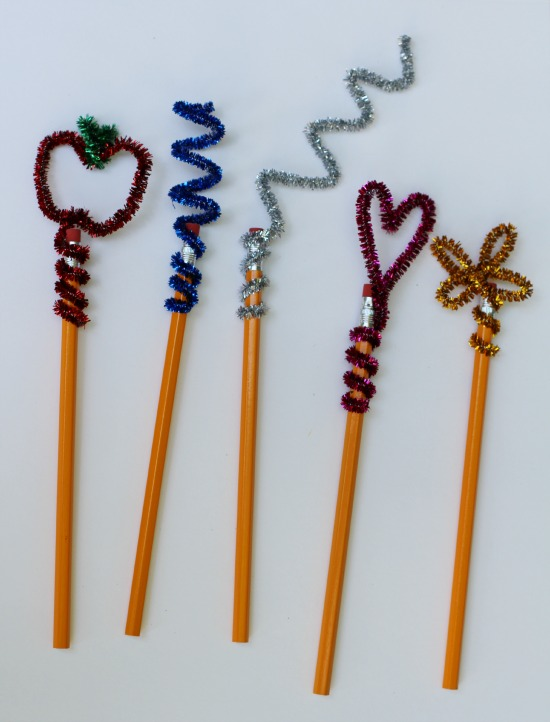 make and takes  pencil toppers