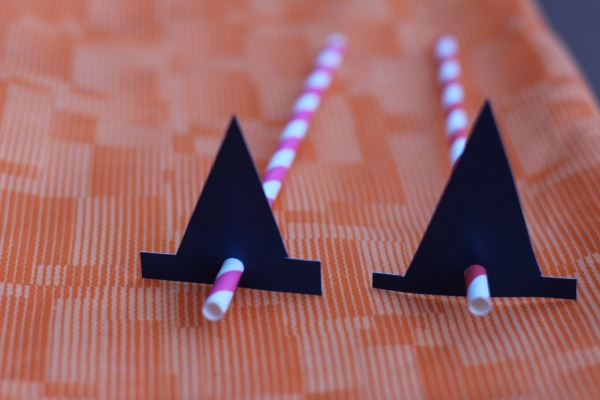 DIY for Kids: Witch Hat Straws Halloween Treat