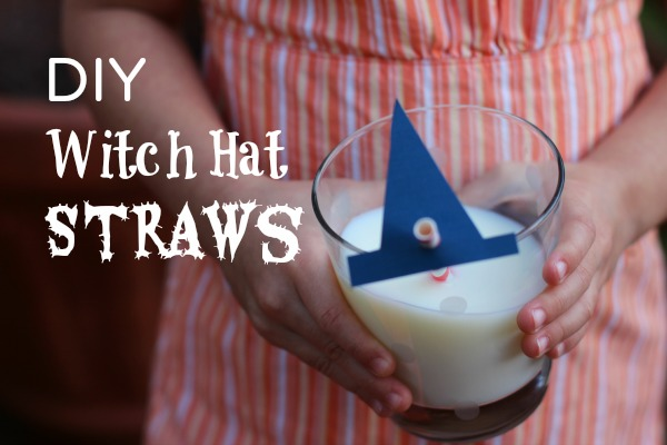 DIY witch hat straws makeandtakes.com