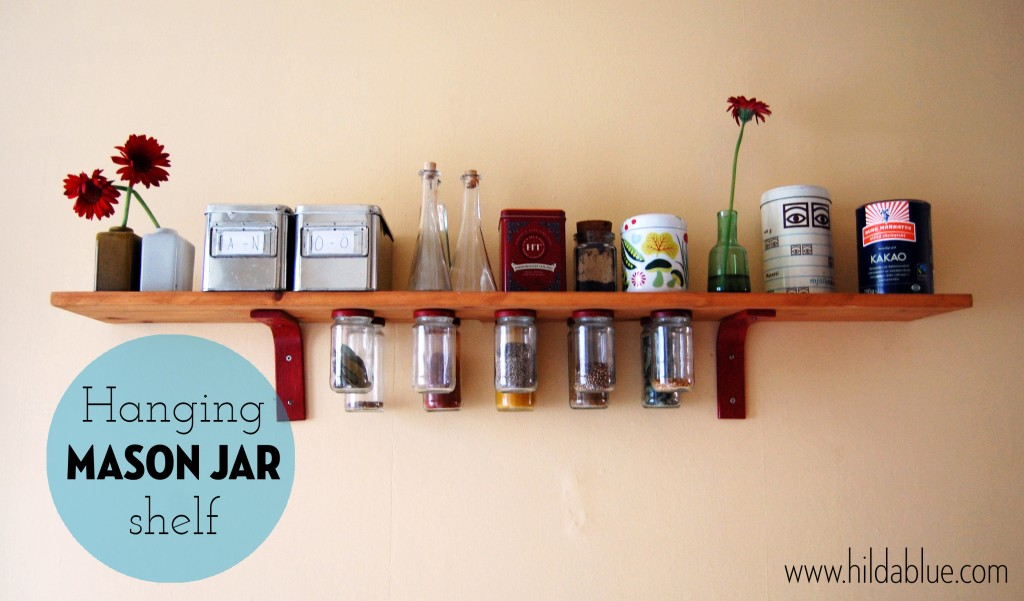 Mason Jar Shelf DIY project