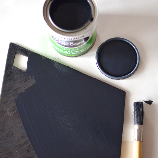 painting chalkboard wreath