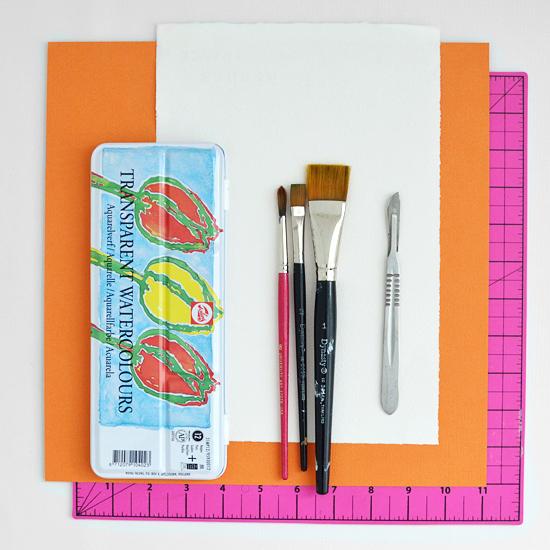 cropped artwork tutorial supplies