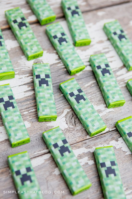 Charming Minecraft Craft Ideas For Kids Part - 5: Creeper Gum Wrappers