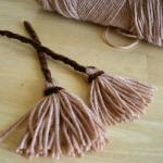 Mini Yarn Witch Brooms