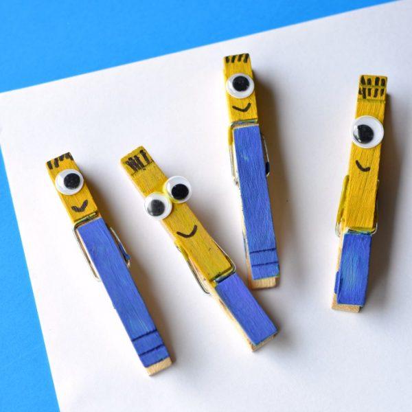 Minion Clothespin Craft