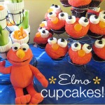 Monster Elmo Cupcakes