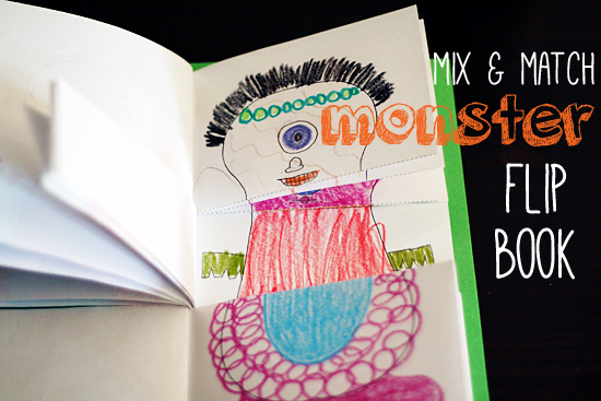 monster mix and match book @makeandtakes.com