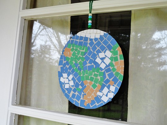Create a Mosaic Earth for Earth Day