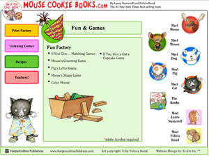 Mouse Cookie Books website