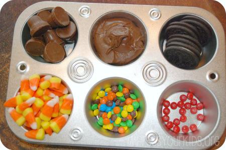 muffin tin turkey oreo cookies