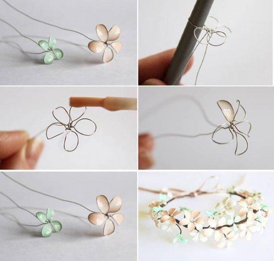 DIY Nail Polish Flowers