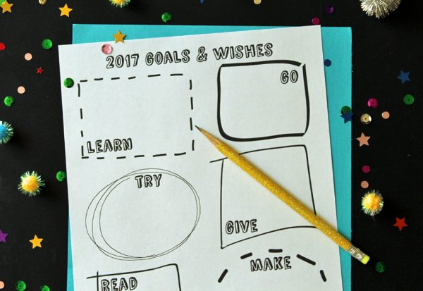 Goals and wishes for the new year - free printable!