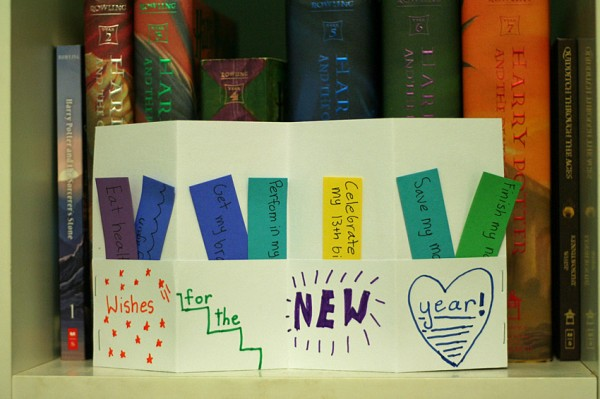 Wishes for the new year accordion book