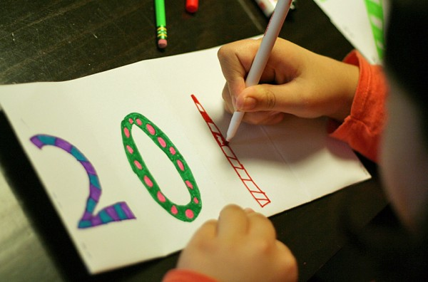 New year wishes book project for kids