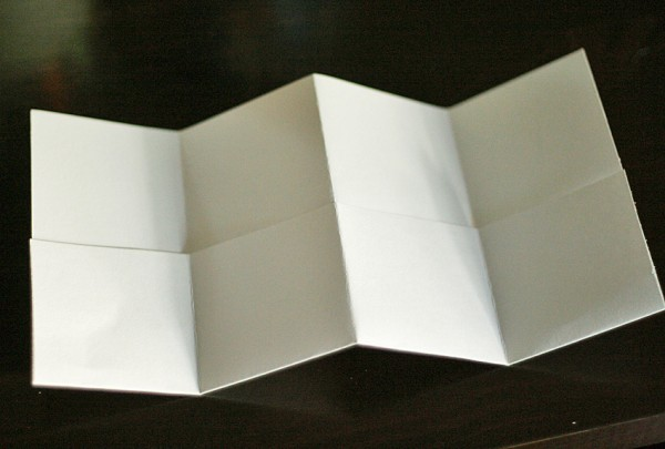 Accordion fold book with pockets