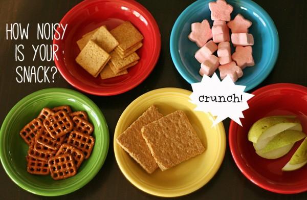 Exploring the sense of hearing with noisy snacks