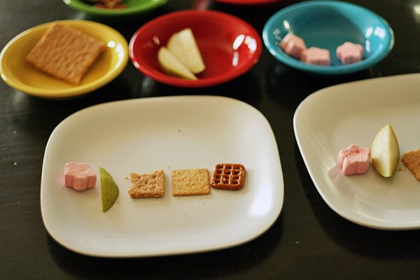 Noisy snack activity for sense of hearing