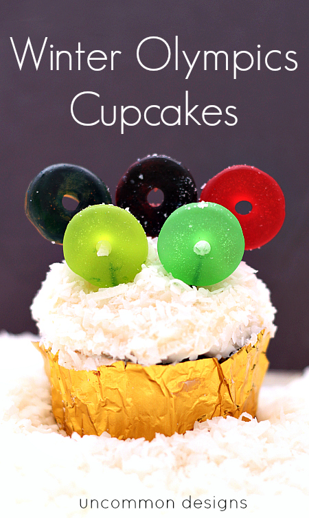 Winter Olympic Cupcakes
