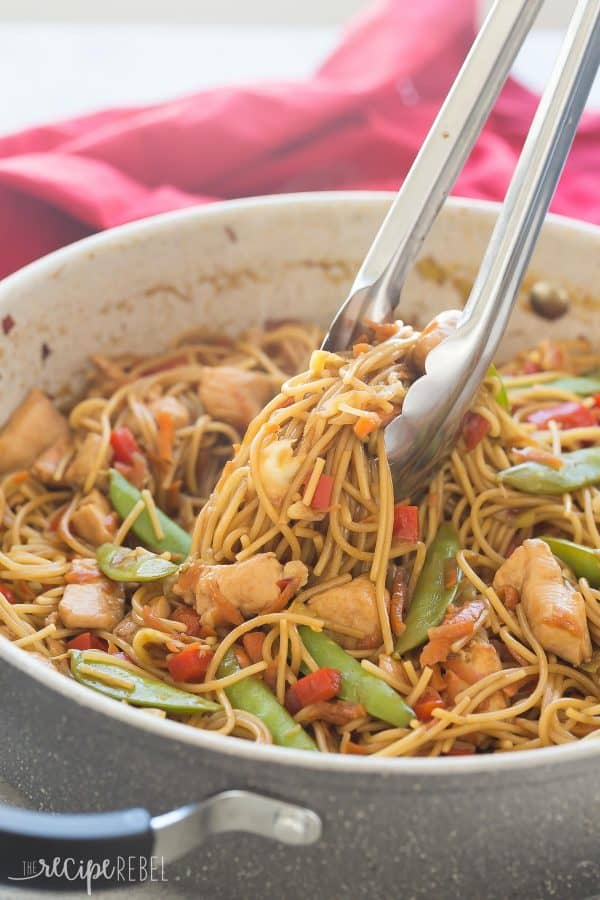 Easy One Pot Chicken Chow Mein