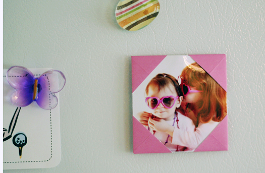 origami picture frame magnet