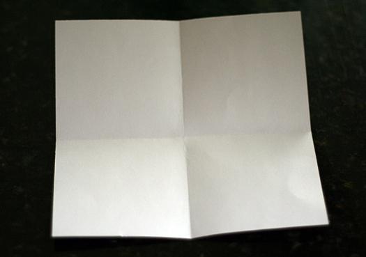 origami frame step 1
