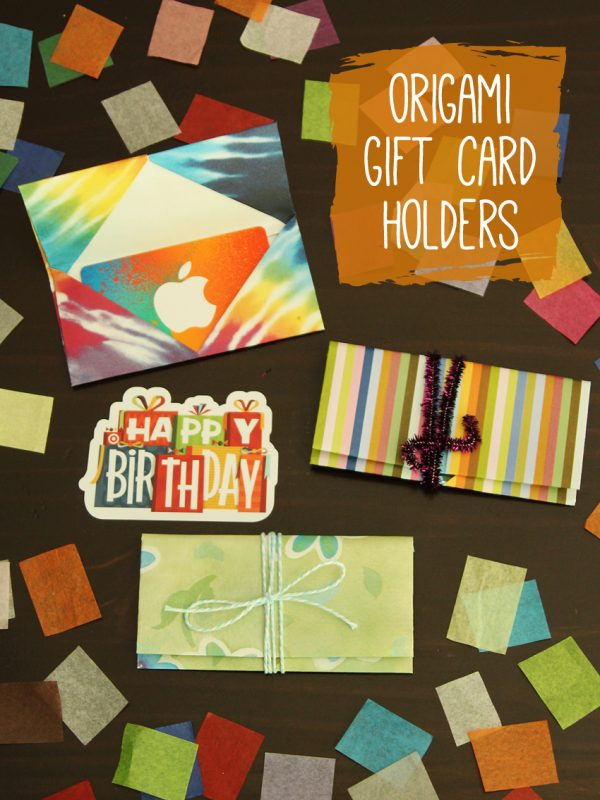 Simple and cute origami gift card holders