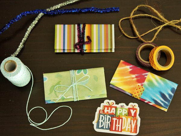 Origami gift card holder ideas