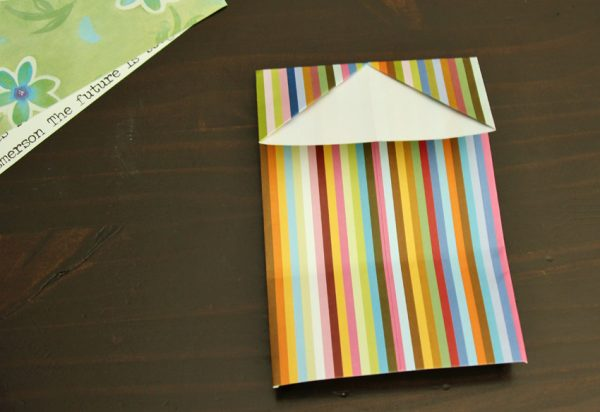 Simple origami gift card holders