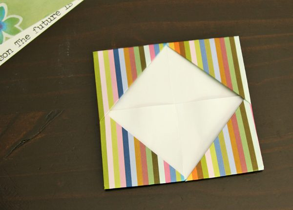 Gift card holder origami