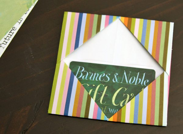 Craft a simple gift card holder